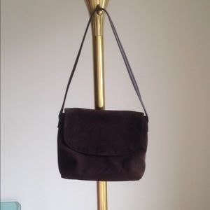 Talbots Chocolate Suede purse with leather handle